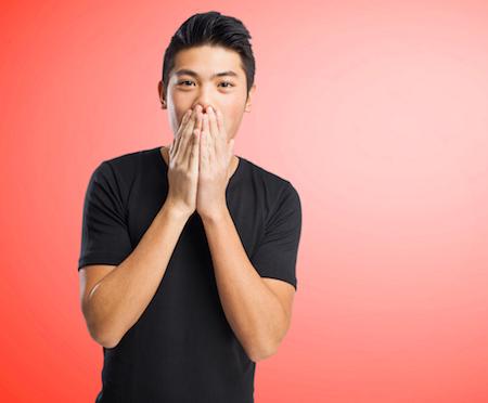 chinese man surprised